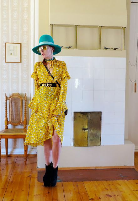 The wardrobe of Ms. B: Yellow flower dress