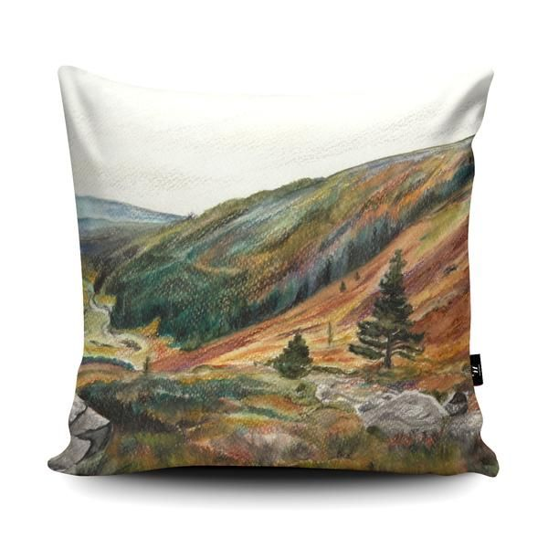 My artwork of the Glendasan Valley, County Wicklow, Ireland features in a Cushion design competition. If you think it is good please could you click like on the Facebook post in the link. Thank you so much!  You can also buy the artwork on a cushion for a limited time: https://www.facebook.com/Wraptious/photos/pcb.1658757404186711/1658757150853403/?type=3&theater