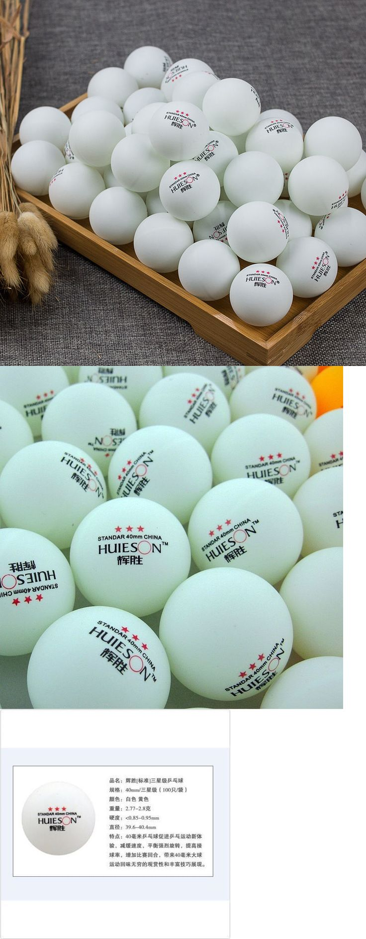 Balls 97073: 200Pcs 3-Star 40Mm Olympic Table Tennis Ball Ping Pong Balls White Free Shipping -> BUY IT NOW ONLY: $38.0 on eBay!