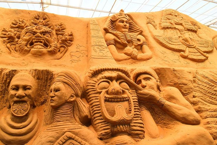 Explore #Mysore, #Karnataka! Spread over 13500 square feet, this #museum exhibits 150 pieces of #sand #sculptures. The prominent #themes are #heritage of Mysore, #wildlife and scenes from epics of major #religions of the #world. Right at the entrance is a giant 15 feet tall #statue of #Ganesha. Other prominent works are those of the erstwhile King of Mysore, #Chamundeswari Devi, Arjun and Krishna in chariot, wild #animals and #ancient #Egypt.