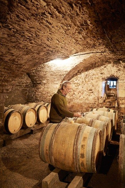 The wine cellar at the Chateau de Sully in France.