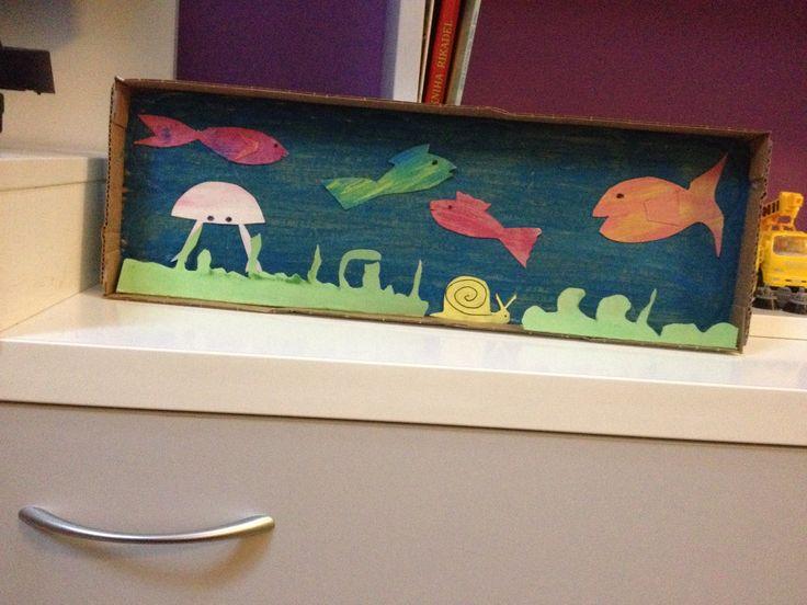 Malé papírové akvárium