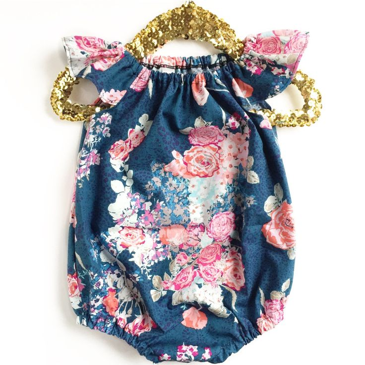 Baby Romper, Floral Bubble Romper, Toddler Romper, Navy Romper, Floral Romper, Summer Baby Clothing, Ruffle Romper, Tula Flora Blue by TheCrankyPeach on Etsy https://www.etsy.com/listing/289728635/baby-romper-floral-bubble-romper-toddler