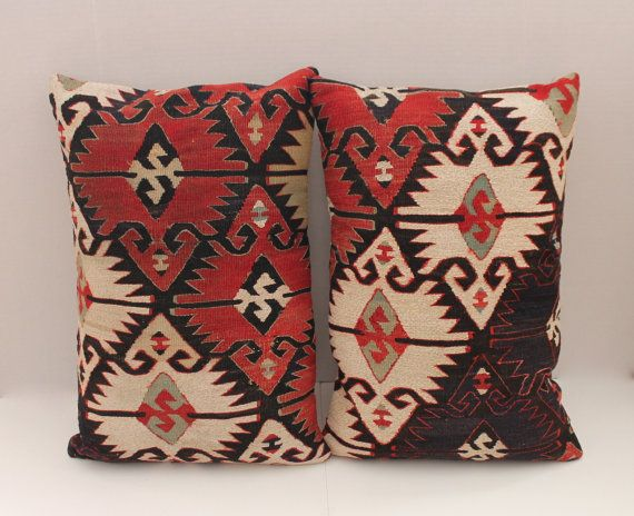2 decorative 16 x 24 red navy brown sage by sultanadecorpillows pillows pinterest brown. Black Bedroom Furniture Sets. Home Design Ideas