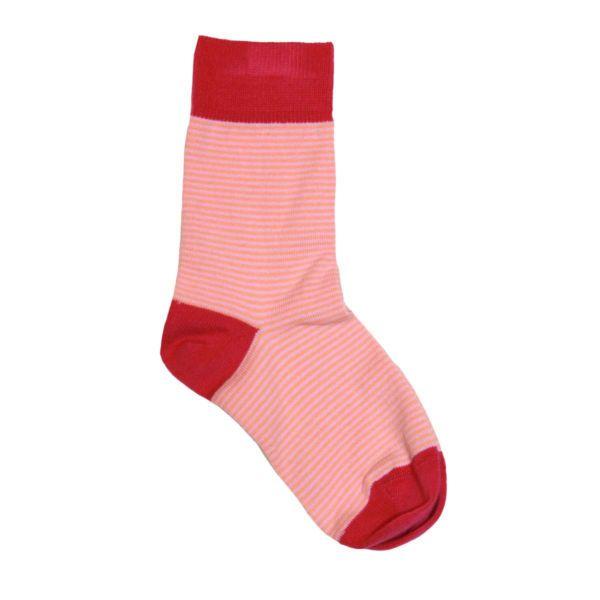 Green Cotton Βρεφικές Κάλτσες Ριγέ Una από 100% Οργανικό Βαμβάκι, Carmine - Sunnyside