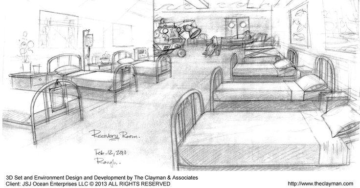 3d Cartoon Set Environment Design Development Hospital