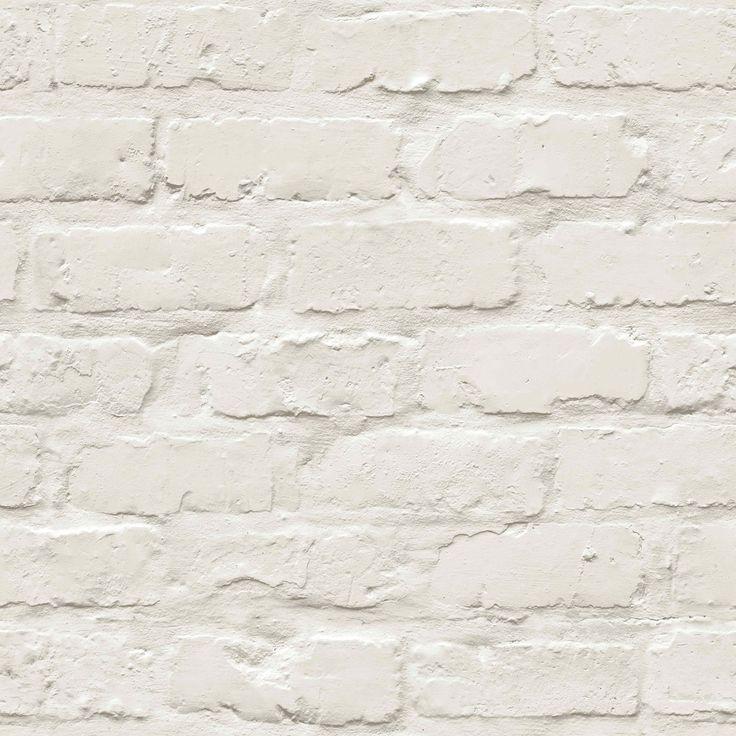Colours White Painted Brick Wallpaper   Departments   DIY at B&Q ....... £14