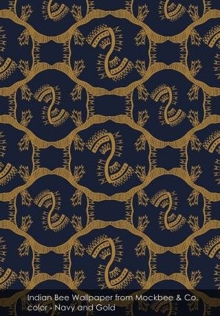 Indian Bee Wallpaper from Mockbee & Co. - Captivating luxury with Mockbee & Co.