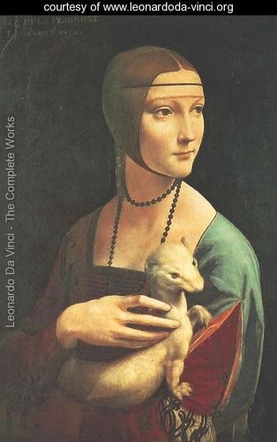 Leonardo Da Vinci ~ Portrait of Cecilia Gallerani (Lady with an Ermine) 1483-90 ~ Renaissance art