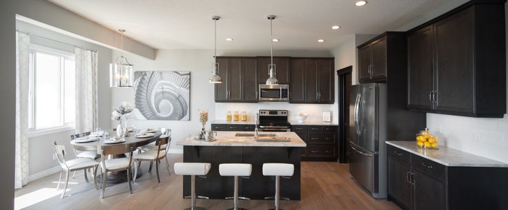 The Ridgeway Kitchen in Hillcrest – Trico Homes – Check out the new homes built by www.tricohomes.com #homebuilder #tricohomes #calgary