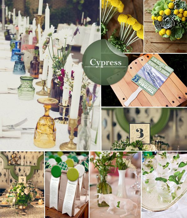 Fall 2014 Wedding Trends Cypress At A First Glance This Color May Not Win You