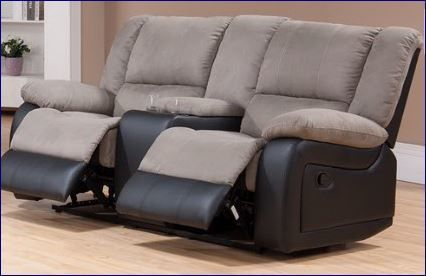 Cream and Black Two Tone Dual Reclining Loveseat on sale now. Hurry in while supplies last on this great deal in Tampa and Brandon.