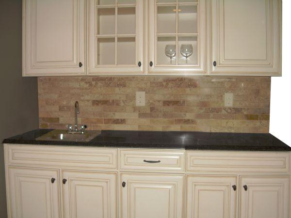 Lowes Caspian Cabinet grey marble countertop stone tile backsplash  Office Space  Lowes