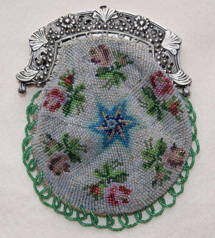 Vintage look beaded floral handbags
