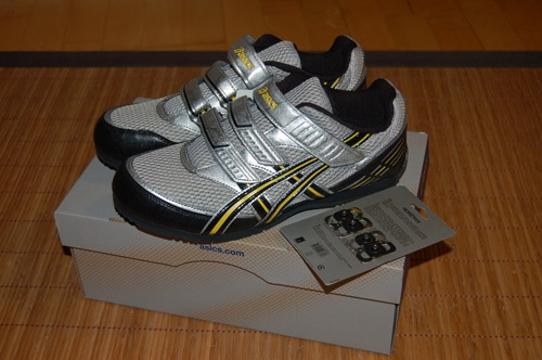 My weird pair of Asics spinning shoes for men... :P