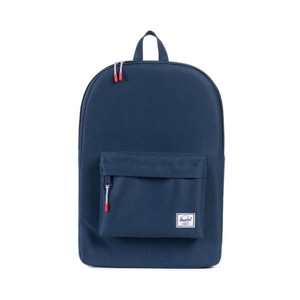 Herschel Supply Co. Herschel Classic Backpack Navy ($52) ❤ liked on Polyvore featuring bags, backpacks, navy backpack, blue bag, blue backpack, backpack bags and knapsack bag