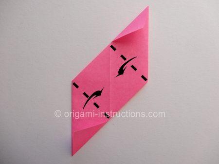 Origami Magie Rose Cube Etape 12