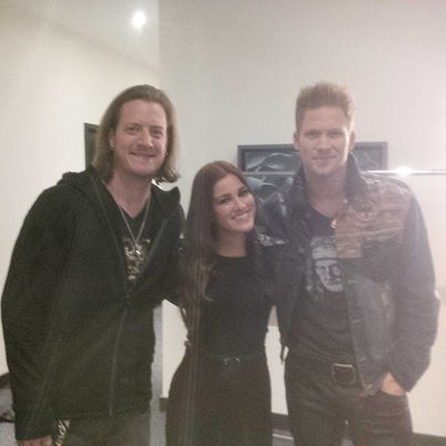Florida Georgia Line and Cassadee Pope hangin' out at CMT Canada! Great picture, eh?