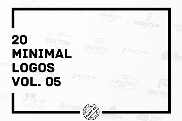 20 Minimal Logos vol. 05 by BART.Co Design on @creativemarket