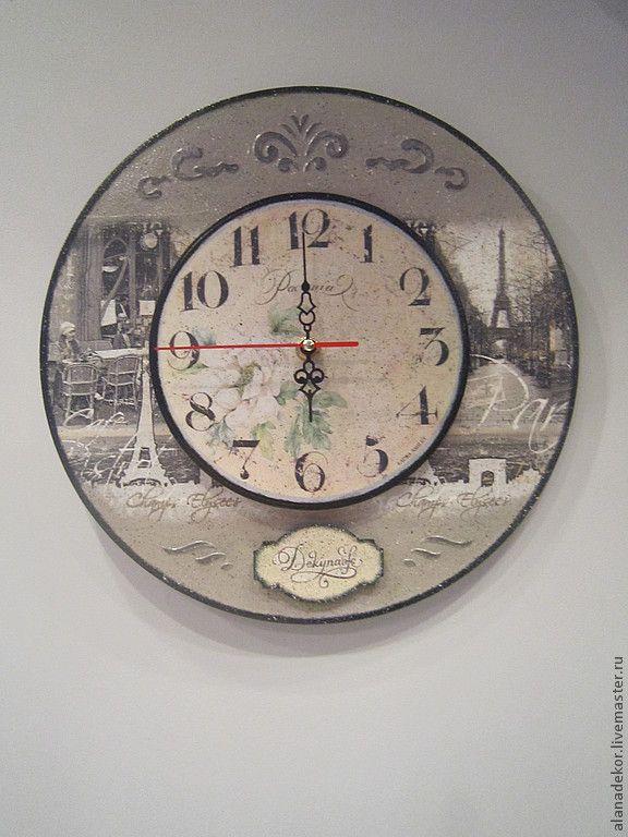 """Часы """"Париж"""". Автор - Десяткина Алла (Алана декор) (alanadekor)"""