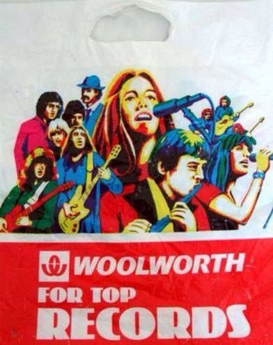 Woolworths record bag.