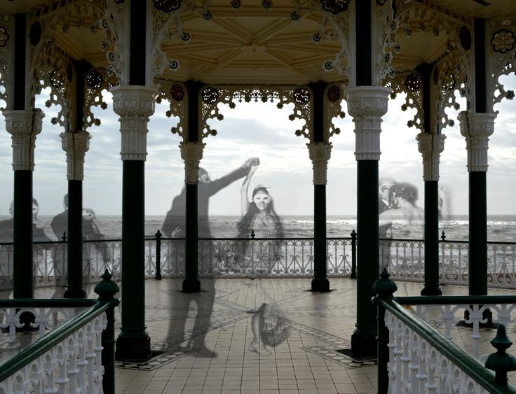 Edited a photograph (the dancers) from google over my photo from Brighton