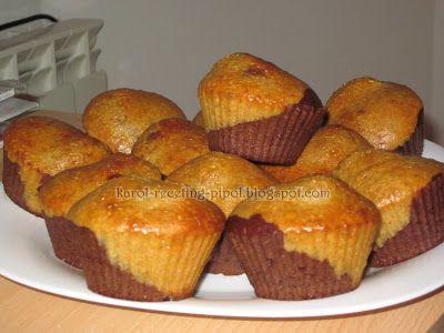 Magdalenas de vainilla y chocolate (con salvado). Ver también la receta de magdalenas de nata SIN salvados. Dukan crucero.