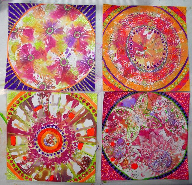Mixed Up Art  Gel Press backgrounds by Kathy Adams