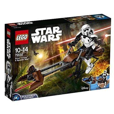 Chollo en Amazon España: Juego de construcción LEGO Star Wars Scout Trooper con Speeder Bike por solo 44,99€ (un 25% de descuento sobre el precio de venta recomendado y precio mínimo histórico)