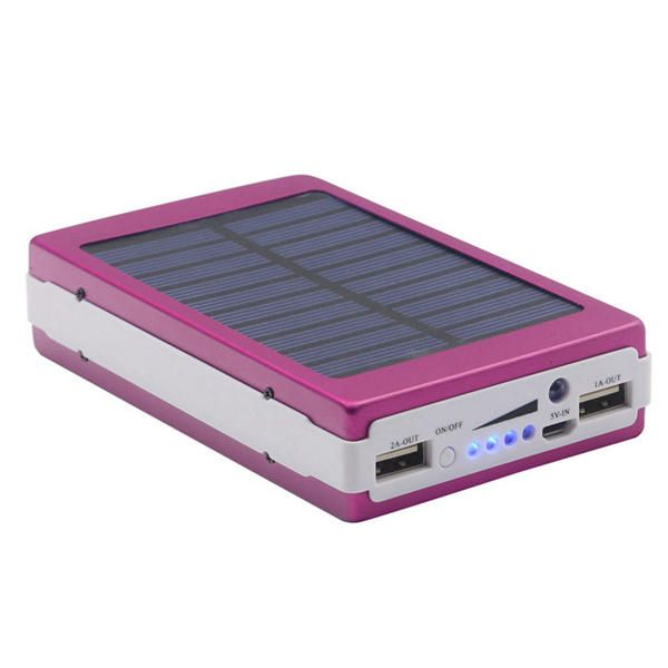 Bakeey 5x18650 Dual USB Solar Energy Camping Flashlight 20000mAh Battery Case Power Bank Box Sale - Banggood.com