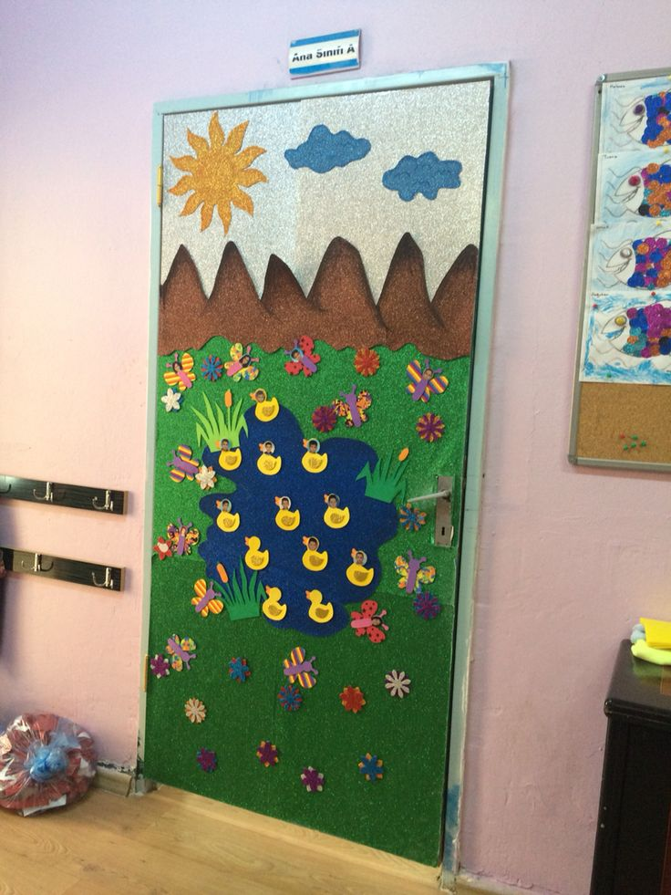 Kapı süsü door decorations preschool