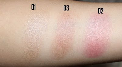 The Body Shop Honey Bronze Highlighting Domes Swatches