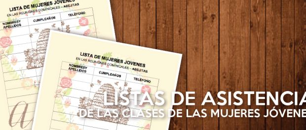 La hermana Alejandra Del Carpio Ching nos compartió estas bellas listas de asistencia para las clases de las Mujeres Jóvenes.