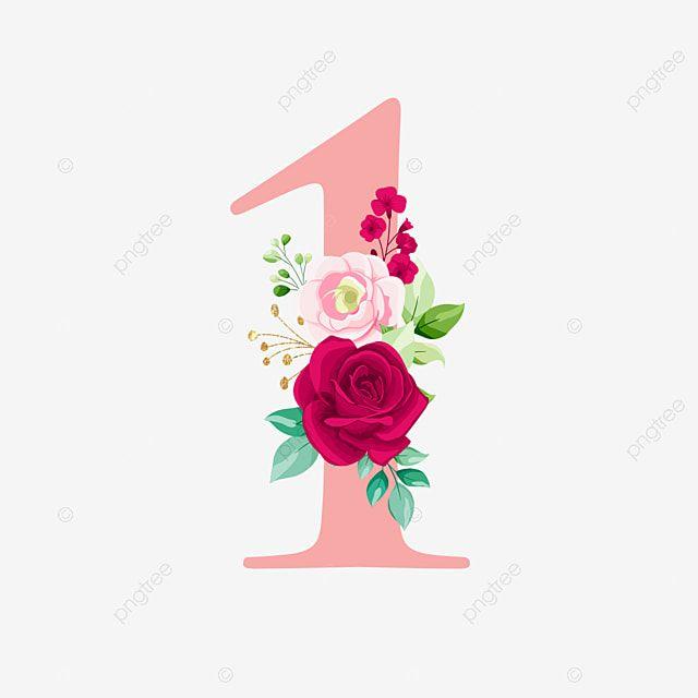 Oro Rosa Numero 1 Con Ramo Logo Flor Boda Png Y Vector Para Descargar Gratis Pngtree Gold Foil Balloons Rose Background Gold Art