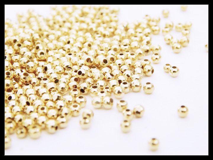 BOL2MM Bola lisa en chapa de oro 14k, medida 2mm, ideal para semanario y bisutería fina, precio x gramo $2.80 pesos, precio medio mayoreo (100 gramos)$2.60, precio mayoreo (250 gramos)$2.40, precio VIP(500 gramos) $2.20 (35 piezas x gramo)