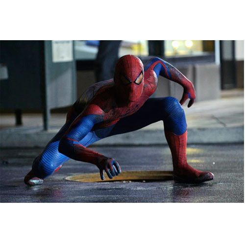 Amazing Spiderman Movie On The Street Gallery Print - See more at: http://www.simplysuperheroes.com/products/amazing-spiderman-movie-on-the-street-gallery-print#sthash.1oIi2yd3.dpuf