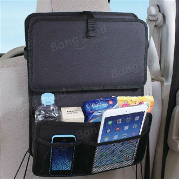 Plegable del coche bolsa de mesa de comida, bebida taza bandeja de soporte de almacenamiento organizador Venda-Banggood.com