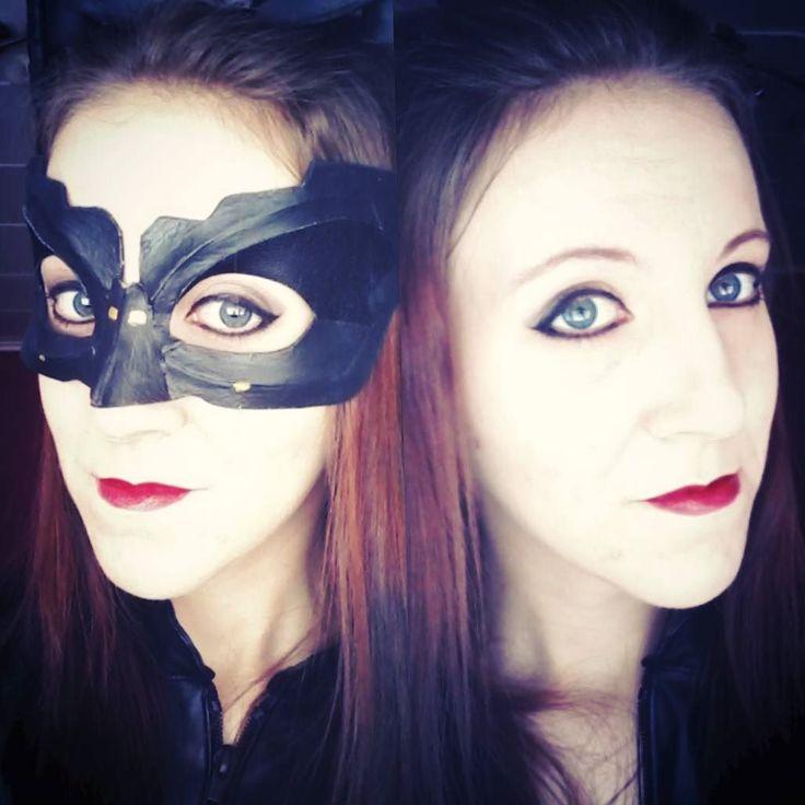 Going to Tampere Kuplii comic festival today :3 #catwoman #cosplay #catwomanmakeup #makeup #catwomanmask #batman #batmandarkknightrises #darkknightrises #dccomics #kissanainen #purrr #cosplaymakeup #tamperekuplii2016 #comicfestival #cosplaying #cossaan #lipstick #redlips #redlipstick