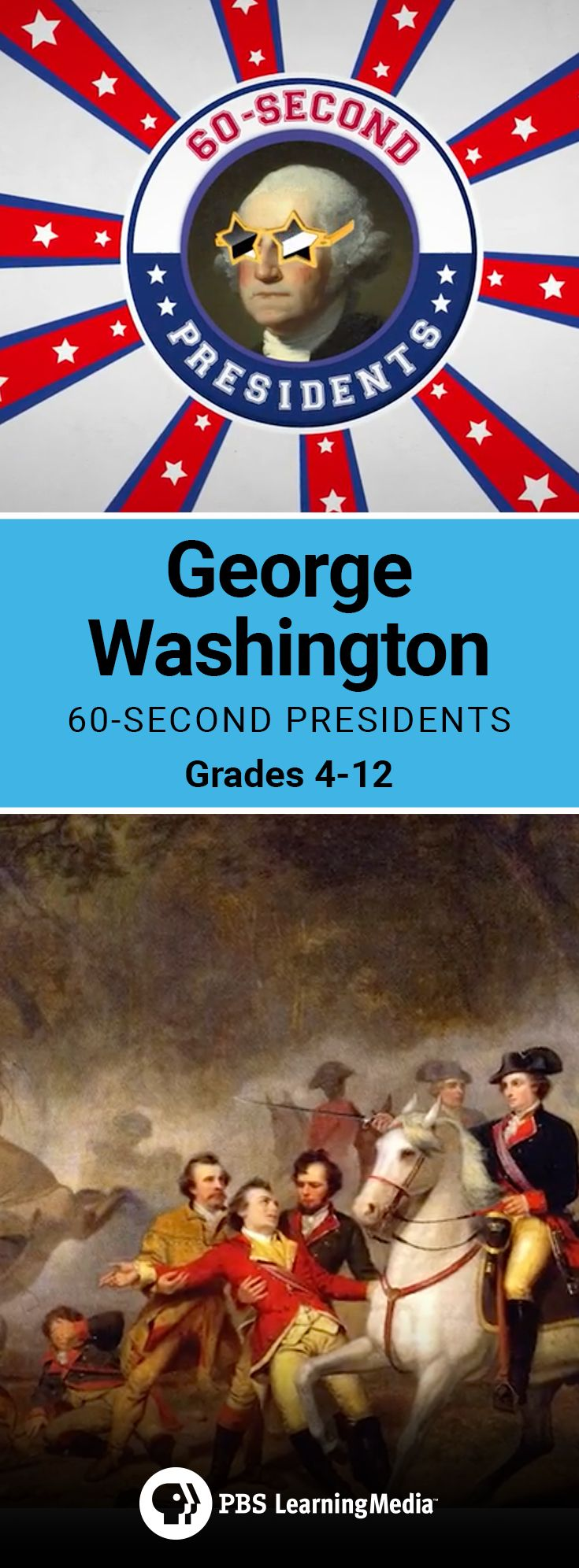 60 second videos that will teach your American history students about past Presidents of the United States.