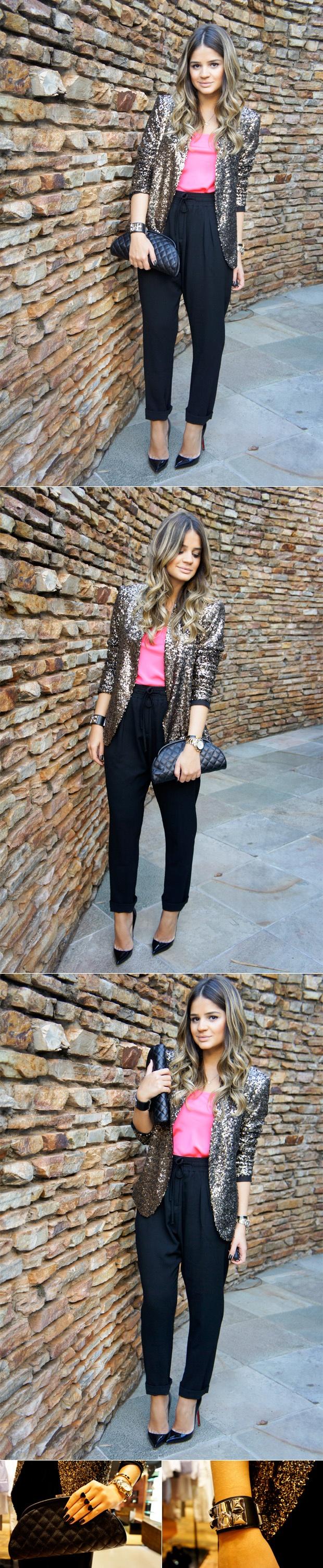 Blazer - Zara (Ju's blog) | Regatta - SUN | Pants - Chocolate | Bag - Chanel | Ring - Pri Schiavinato | Bracelet - Hermes | Pumps - Louboutin