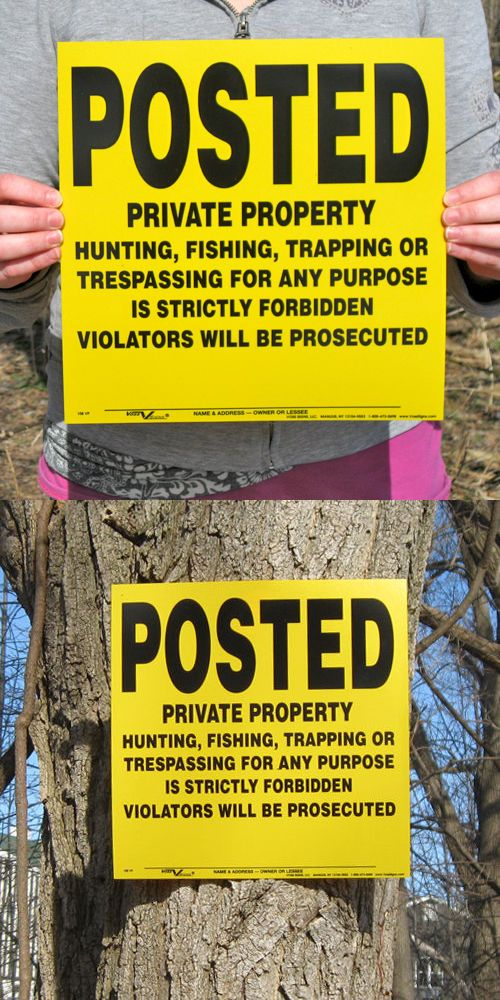 Trail Markers and Signs 177889: Lot Of 25 Yellow Posted Private Property Hunting Signs -> BUY IT NOW ONLY: $37.25 on eBay!