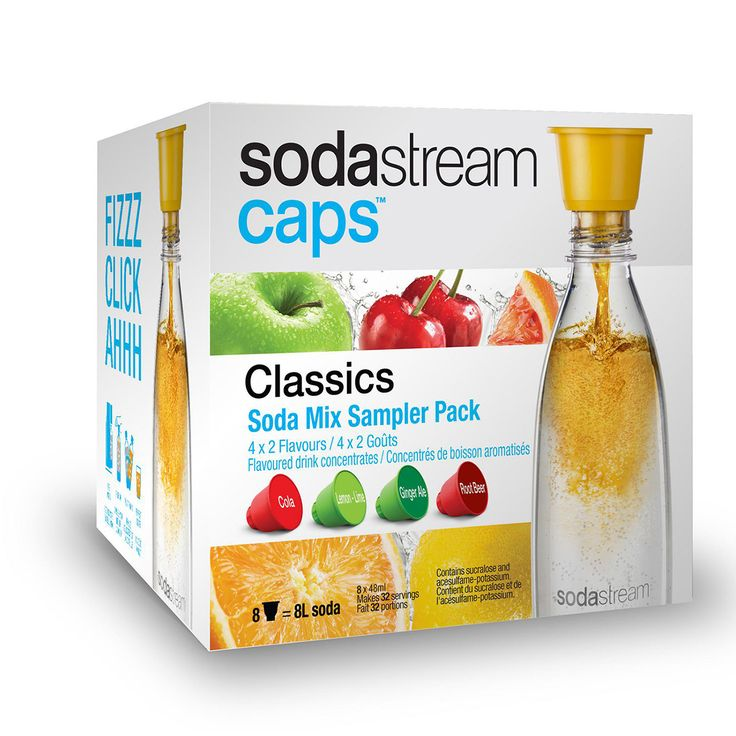Personal Edge : SodaStream 1023013110 Sodacap Classics Sampler Pack