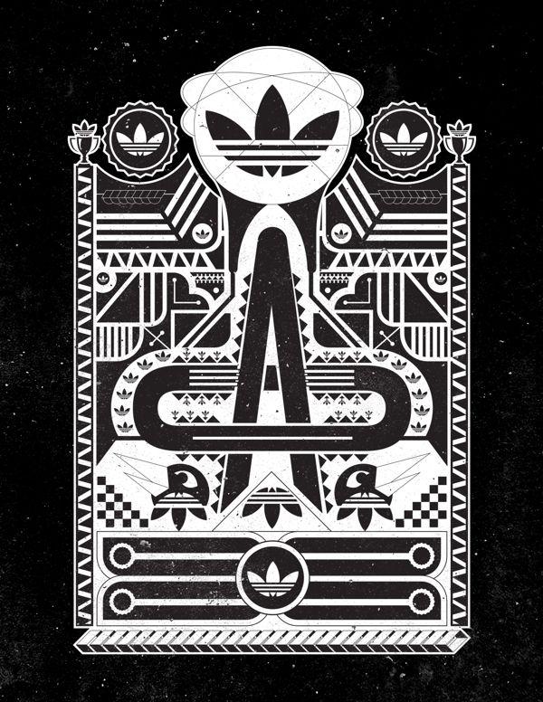 Adidas Logo Original Black