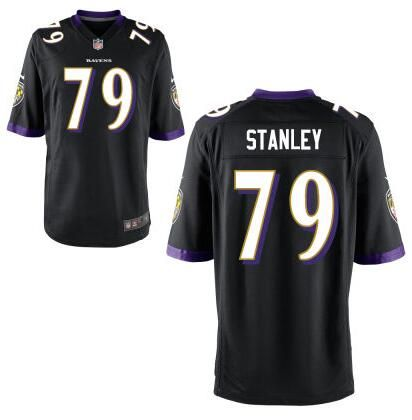 Men's Baltimore Ravens #79 Ronnie Stanley Nike Black Elite 2016 Draft Pick  Jersey