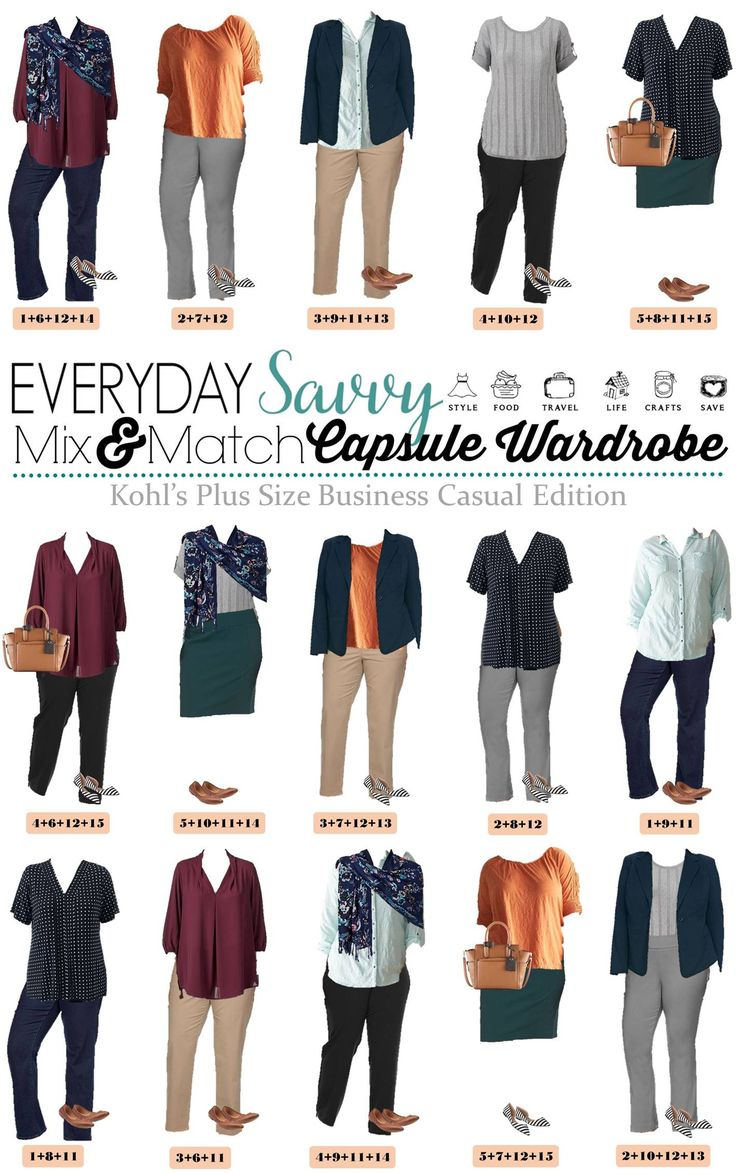 Check out this great Plus Size Business Casual Outfit Ideas For Spring from Kohls. These pieces make 15 mix & match outfits that make getting dressed easy. via @everydaysavvy