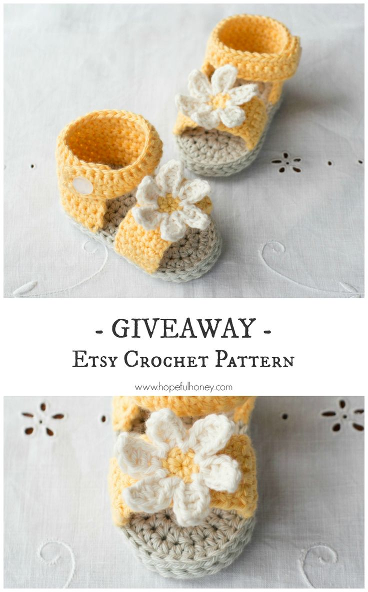Daisy Delight Baby Sandals - Crochet Pattern + Giveaway ☂ᙓᖇᗴᔕᗩ ᖇᙓᔕ☂ᙓᘐᘎᓮ http://www.pinterest.com/teretegui