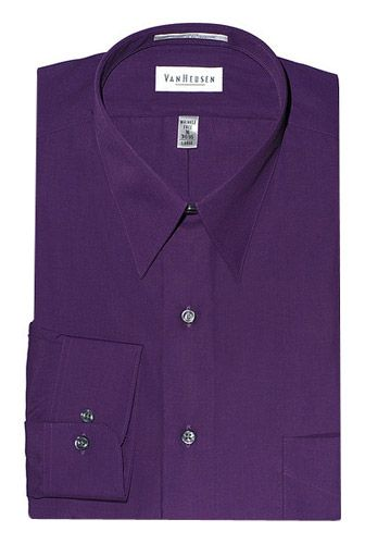 Van Heusen Dark Purple Dress Shirt Regular, Big, and Tall Sizes