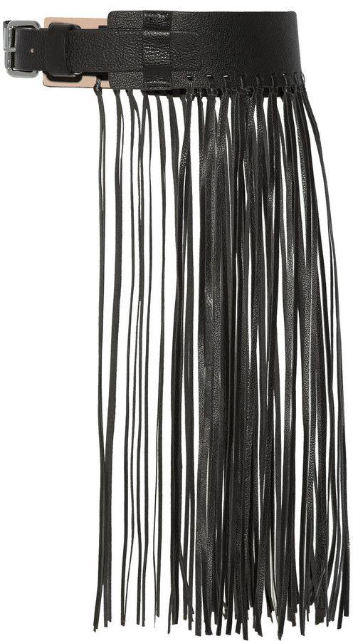 Sunda fringed leather belt By Malene Birger