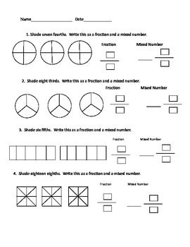 fraction mixed number worksheet classroom ideas for 3rd grade math classroom math helper et. Black Bedroom Furniture Sets. Home Design Ideas