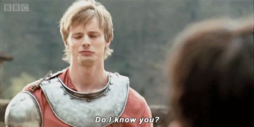 New party member! Tags: bbc drama flirting flirt merlin bradley james king arthur do i know you